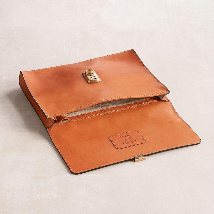 Underarm Document Case aus Stierleder Cognac