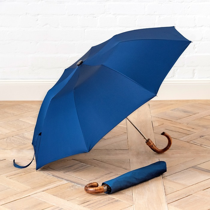 Doppler-Taschenschirm Oxford Blau