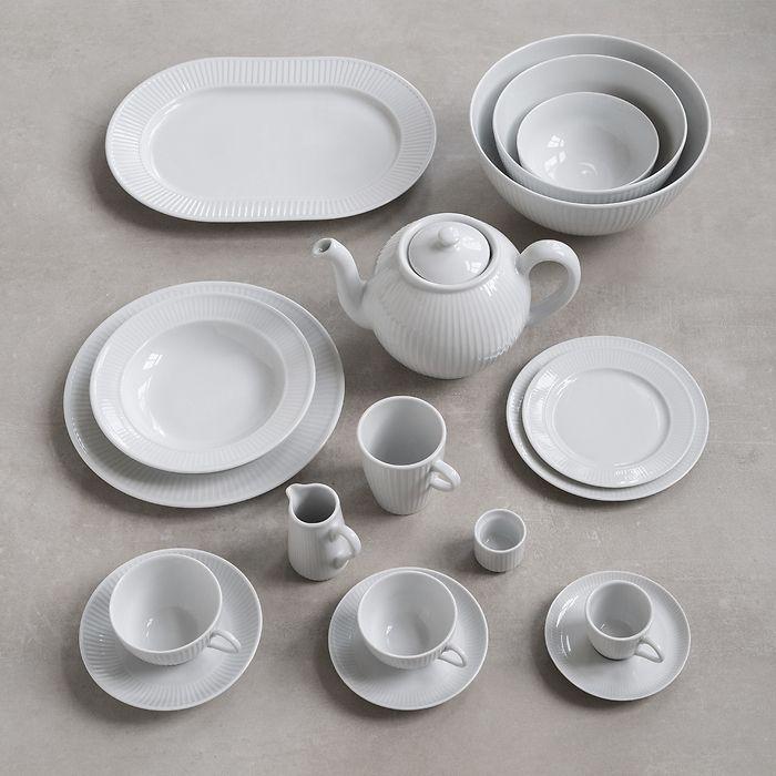 Pillivuyt Plissé Frühstückstasse mit Untertasse