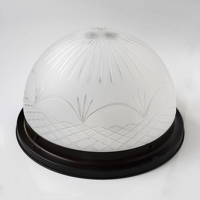 Deckenleuchte mit geschliffenem Kristallschirm