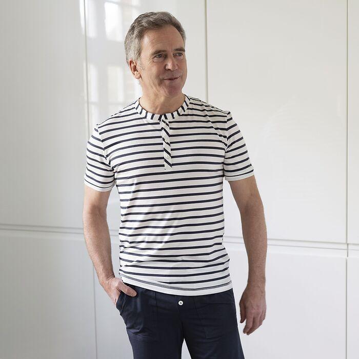 Sunday in Bed Gestreiftes Pyjamashirt John L