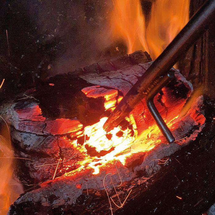 Eldvarm Feuerrohr mit Schürhaken