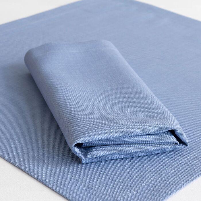 Serviette mit Fleckschutz Blue Stone