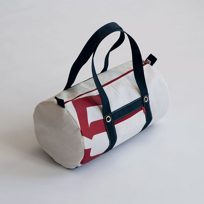 Tasche aus Segeltuch klein mit  roter Nummer