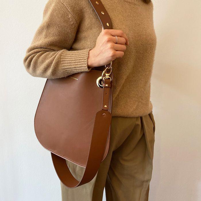 Marjana von Berlepsch Handtasche Malon Big Nappaleder Cognac