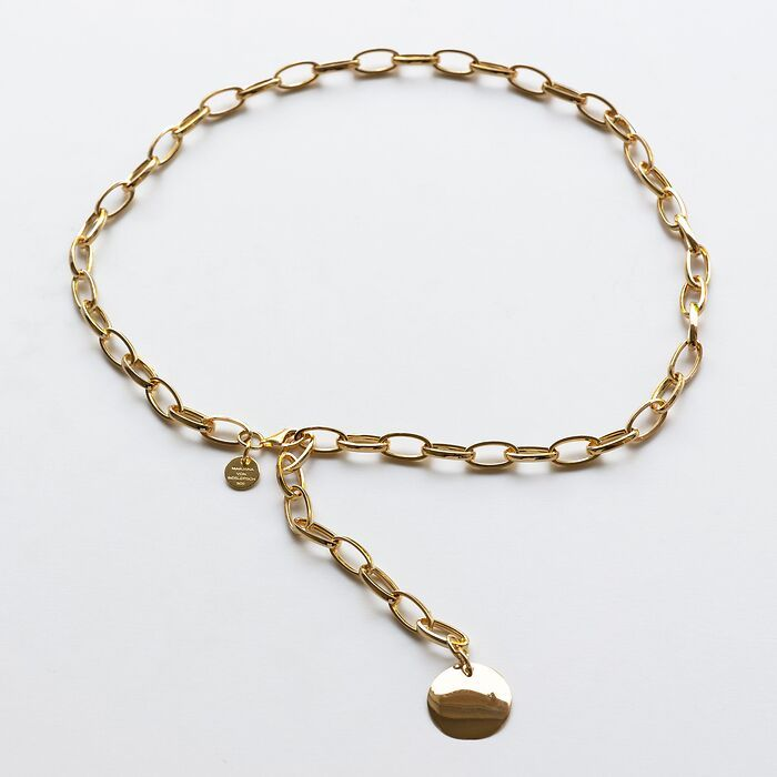 Marjana von Berlepsch Halskette Charm Big Silber vergoldet