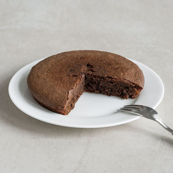 Bio Mandelkuchen mit Kakao und Vanilleextrakt
