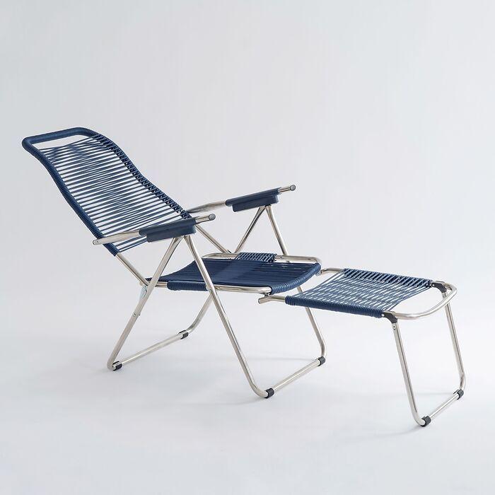 FIAM Spaghetti-Sessel blau