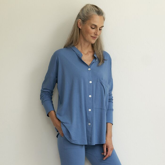Sunday in Bed Shirt Gerdi Blau L