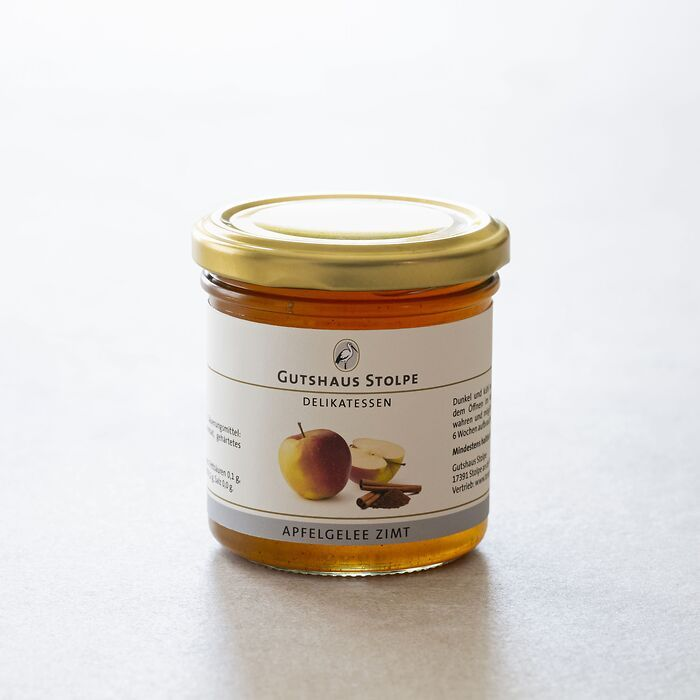 Gutshaus Stolpe: Fruchtaufstrich Apfelgelee Zimt 167 g