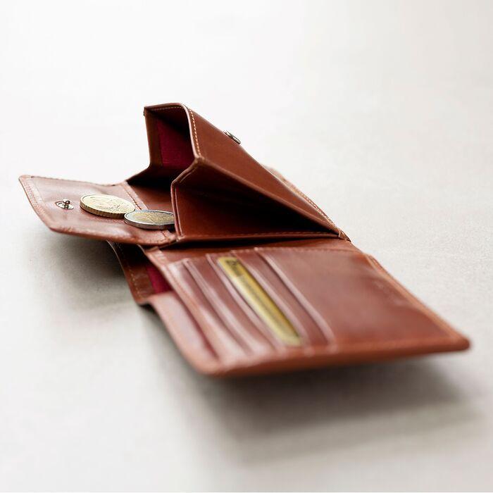 Portemonnaie mit Münzfach Chestnut