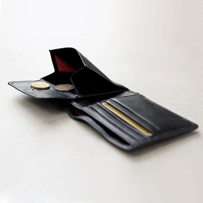 Portemonnaie mit Münzfach Nero