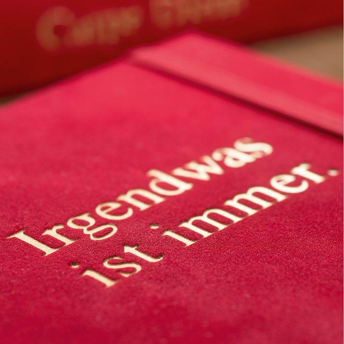 Tagebücher mit Samtbezug