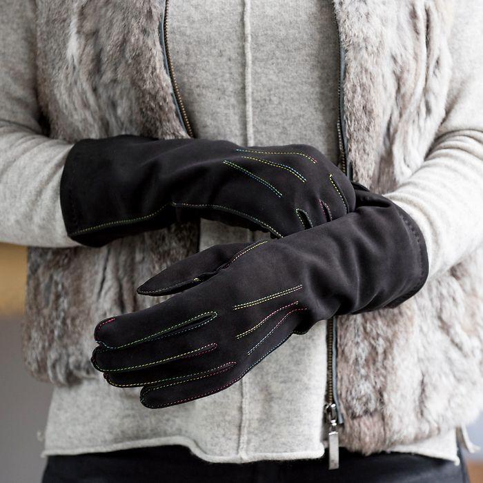 Damenhandschuh aus Rentierleder