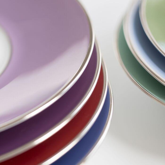Porcelaine de Limoges Frühstückstasse mit Platindekor