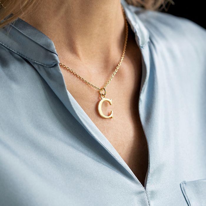 Marjana von Berlepsch Buchstabenkette Silber vergoldet