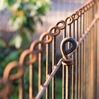 Gartenzaun aus Eisen