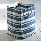 Wäschetasche Blau/Weiß groß